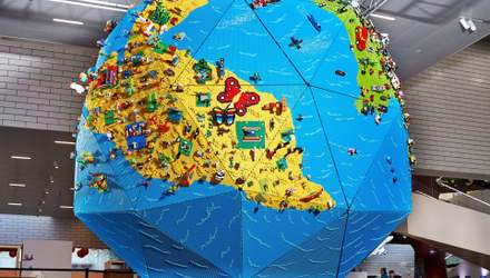 LEGO показали чотириметровий глобус, який допомогли створити діти: круті фото