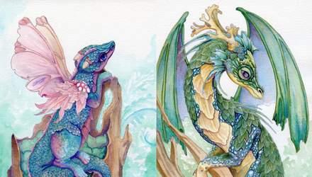 Драконы, чтобы справиться с шизофренией: впечатляющие рисунки художницы