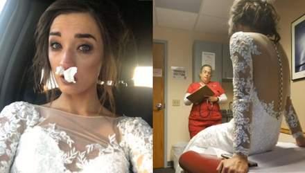 Лікарня замість весілля: як імпровізований букет зіпсував свято закоханим – фото та відео