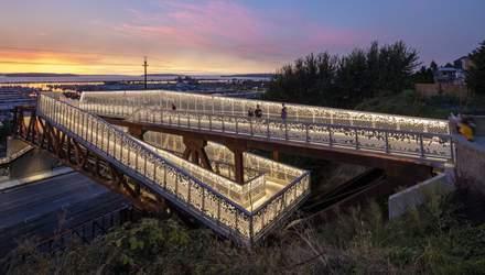Неоправданная великолепие: в США построили гигантский мост вместо обычных лестниц – фото