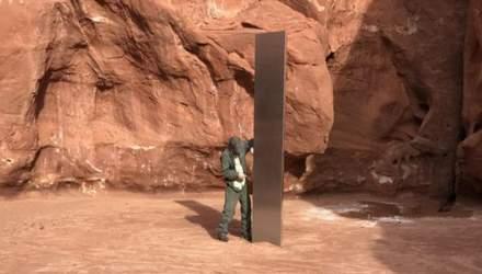 Загадковий металевий моноліт, знайдений у пустелі в США – зник