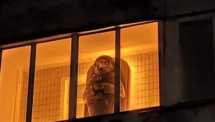 Царь-балкон уже не в тренде: в Киеве заметили балкон с саркофагом бога