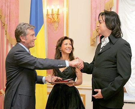 Віктор Ющенко, Ані Лорак і Філіп Кіркоров