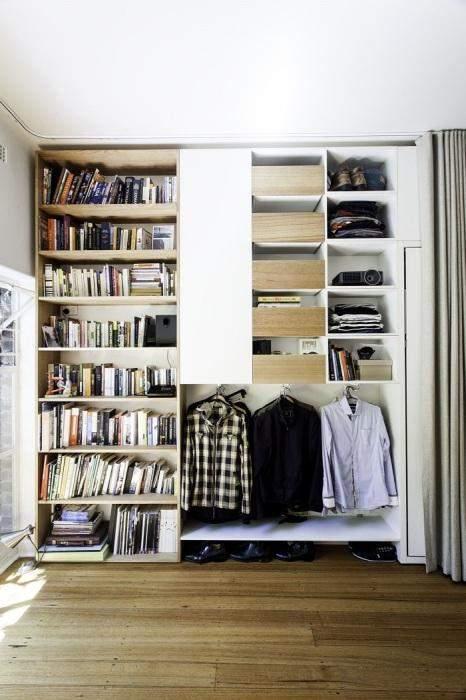 Система для хранения всех вещей в едином шкафу