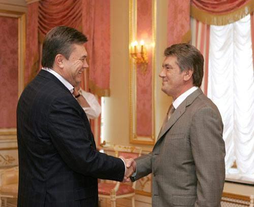 Віктор Янукович та Віктор Ющенко