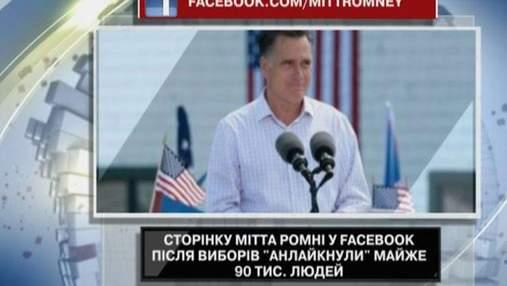 Сторінку Мітта Ромні у Facebook покинуло 90 тисяч людей