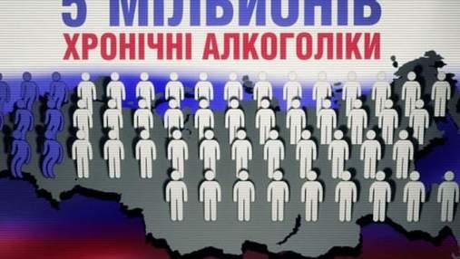 В Росії 3,5% населення – хронічні алкоголіки