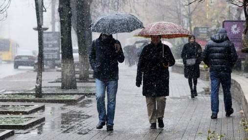 Прогноз погоди на 13 листопада: сніг і дощ – на сході, на заході та півдні буде ще тепло