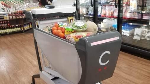 """В США создали """"умную"""" тележку для покупок в супермаркете: интересные технологии"""