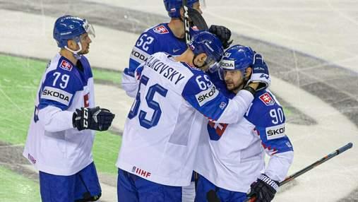 Збірна Швеції з хокею драматично вирвала перемогу у швейцарців, словаки розбили Британію: відео
