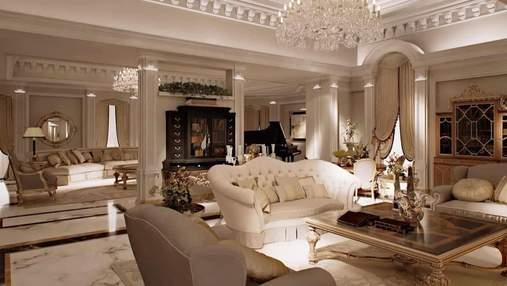 Вітальня в класичному стилі: освітлення, меблі, кольори та поради щодо оформлення