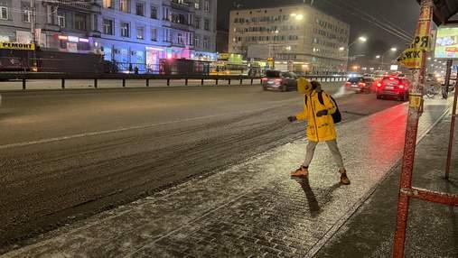 У Києві через ожеледицю на дорогах зафіксували 127 ДТП: відео