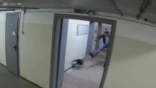 В Киеве мужчина ногами избил щенка: видео 18+