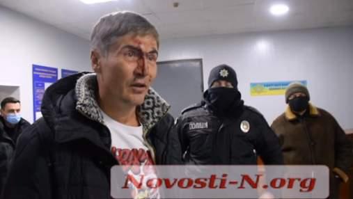 В Николаеве экс-нардеп попал в скандал из-за якобы нетрезвого вождения: видео