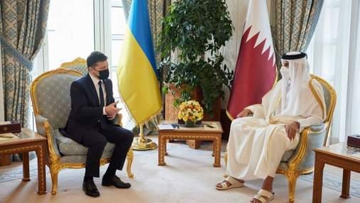 Один из важнейших партнеров, – Зеленский встретился с эмиром Катара