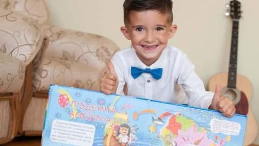 Новий рекорд України: 6-річний хлопчик з Львівщини назвав найбільше країн за контурами на карті