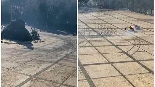 Дрифтери Red Bull із Софійської площі поїхали дознімати ролик на Кільцеву дорогу