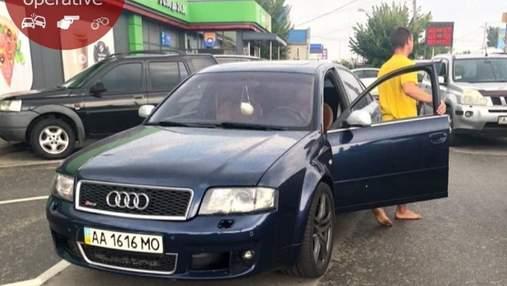 Под Киевом пьяный водитель совершил ДТП, сбил человека и пытался уехать с выключенным двигателем