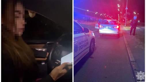 """""""Та мені взагалі по**й"""": у Києві блогерка на Lexus порушила правила та втікала від поліції"""