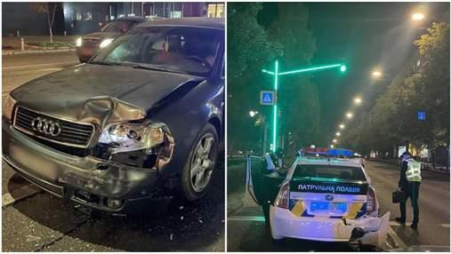 Пьяный водитель в Киеве врезался в патрульную машину: ранены полицейские