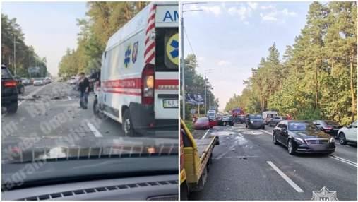 Масштабное ДТП произошло на Столичном шоссе: есть пострадавшие