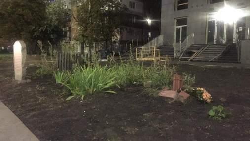 У Києві знесли пам'ятні хрести жертвам Бабиного Яру, де будують житловий комплекс