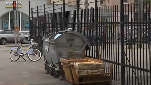 На Подолі у Києві в одному з дворів розгорівся сміттєвий скандал з серйозними наслідками
