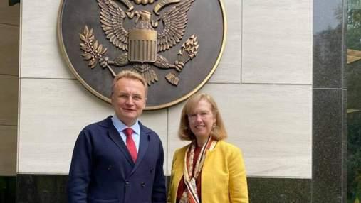 Во Львове планируют открыть Американский дом: Садовый встретился с послом США