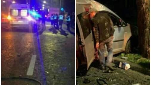 Відпали колеса, авто розлетілися на уламки: біля КПІ трапилася моторошна нічна автотроща