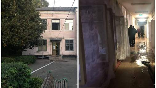 В Белой Церкви вспыхнул пожар в больнице: одна женщина умерла – фото с места трагедии