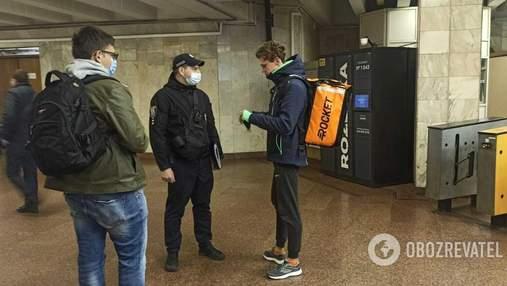 Поліцейські з'ясували, що кожен десятий їздить у метро Києва без маски