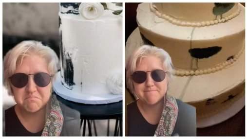 Жінка замовила дорогий весільний торт і розчарувалась: це повний провал