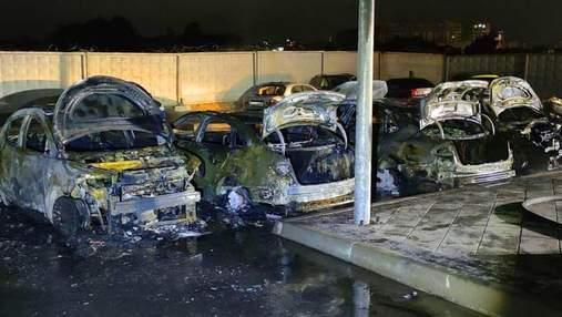 На Київщині викрили банду паліїв, яка знищила 7 машин за салони краси: оперативне відео