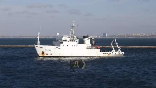 В Одесу прибуло дослідницьке судно Belgica, яке Україні подарувала Бельгія