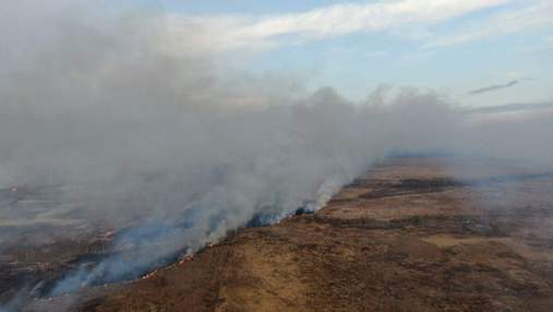 На Рівненщині спалахнула масштабна пожежа