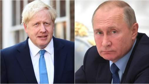 Премьер Великобритании поговорил с Путиным о войне в Украине