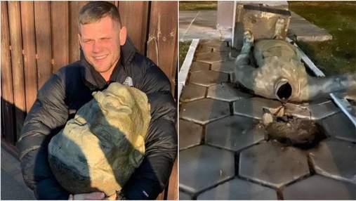 """В Полтавской области """"демонтировали"""" два памятника советским деятелям"""