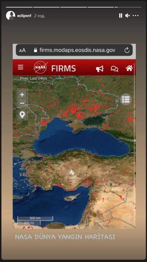 Пожежа в Туреччині карта