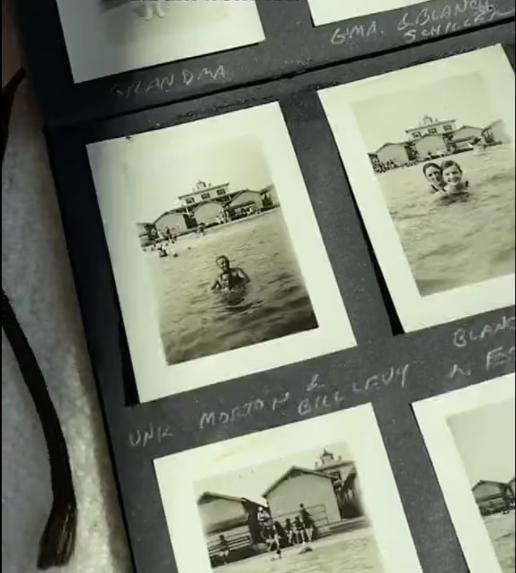 В альбомі 1927 року були фото людей на відпочинку