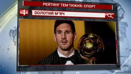 """Спортивна подія тижня за версією """"Яндексу"""" - Золотий м'яч"""