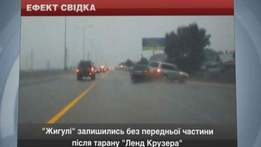 """Toyota Land Cruiser постарався протаранити водій """"Жигулів"""""""