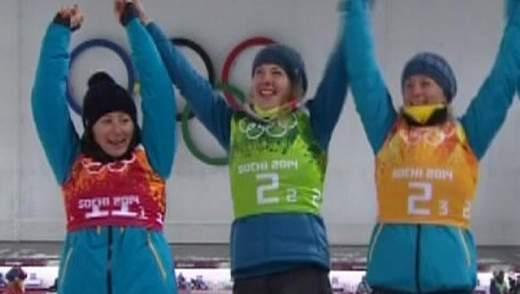Українські біатлоністки отримали квартири за перемогу в Сочі