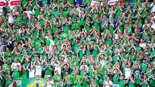 Фанаты Северной Ирландии во время матча пели про Украину как маленькую часть России