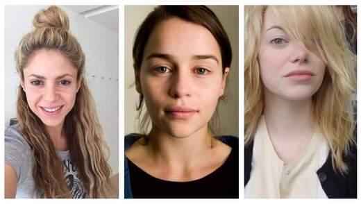 10 зірок, які не соромляться показати обличчя без макіяжу