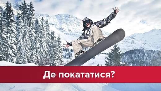 Рай для сноубордистів: де покататися не в Карпатах