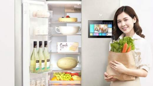 Xiaomi представила холодильник со встроенным планшетом: фото