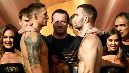 Усик та Гассієв показали однакову вагу на зважуванні та провели дуель поглядами: відео