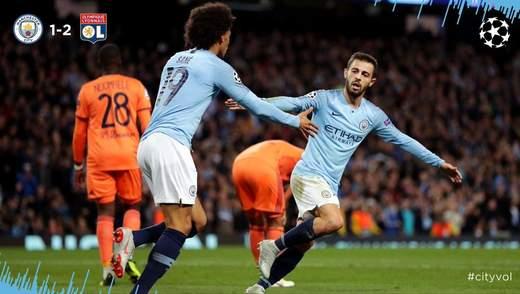 """""""Манчестер Сіті"""" вдома сенсаційно поступився """"Ліону"""": відео голів матчу"""