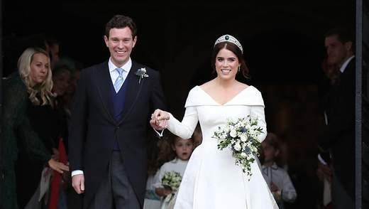 Королівська сім'я опублікувала офіційні фото весілля принцеси Євгенії та Джека Бруксбенка