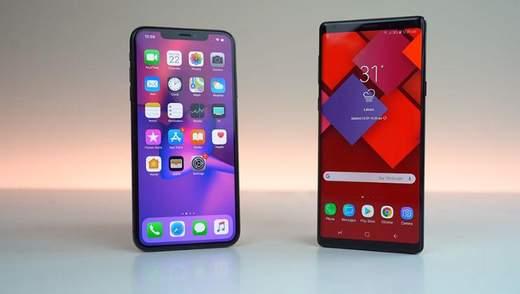 iPhone Xs Max серйозно уступив Galaxy Note9 у важливому тесті